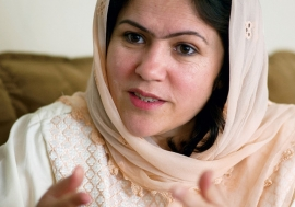 """I want my daughters to be respected as human beings,"" says Fawzia Koofi, a trailblazer in Afghanistan."