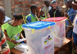 Voting takes place on 30 December 2015 in elections in the Central African Republic. Photo: MINUSCA