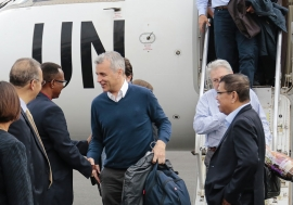 A visiting Security Council delegation arrives in Bujumbura, the capital of Burundi. Photo: UNIC Bujumbura