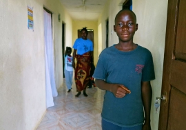 Thirteen year-old Francis from Sierra Leone lost his parents, sister and grandmother to Ebola. At least 3,700 children in West Africa have lost one or both parents to the disease since the start of the outbreak. Photo: UNICEF/Jo Dunlop
