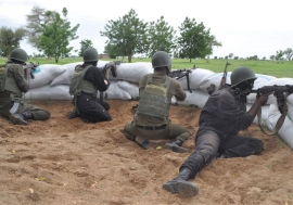 Cameroon military on the lookout for Boko Haram militants in the Far North Kolofata community, along the border with Nigeria. Photo: Monde Kingsley Nfor/IRIN