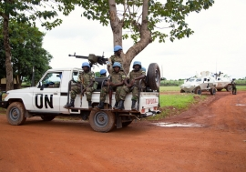 A MINUSCA patrol in Bangui, Central African Republic (CAR). Photo: MINUSCA
