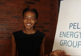 Fumani Mthembi, one of the founders of Pele Energy Group. Photo: Tsidi Bishop