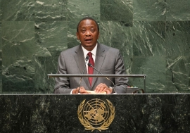 Ebola crisis highlights need for strong resourceful states, Kenyan leader tells UN assembly