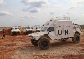 A Senegalese Quick Reaction Force (QRF) in Bangui, Central African Republic, to bolster forces of the UN Multidimensional Integrated Stabilization Mission in the Central African Republic (MINUSCA). UN Photo/Nektarios Markogiannis