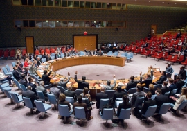 The Security Council unanimously adopts resolution 2288 (2016), lifting sanctions on Liberia. UN Photo/Manuel Elias
