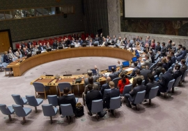 Wide view of the Security Council on 29 June 2016 where members took action on mandates of peacekeeping operations in Mali, Darfur, and the Golan Heights. UN Photo/JC McIlwaine