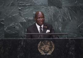 José Mário Vaz, President of the Republic of Guinea-Bissau, addresses the general debate of the General Assembly's seventy-first session.