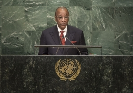 Alpha Condé, President of the Republic of Guinea, addresses the general debate of the General Assembly's seventy-first session.