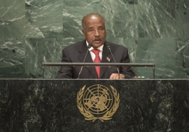 Osman Mohammed Saleh, Minister for Foreign Affairs of Eritrea, addresses the general debate of the General Assembly's seventy-first session.