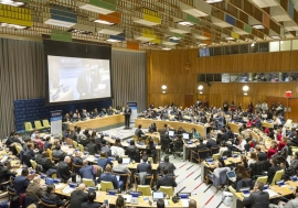 Wide view of the opening session of the 6th UN Economic and Social Council (ECOSOC) Youth Forum. UN Photo/Rick Bajornas