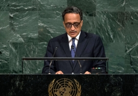 President Mohamed Ould Abdel Aziz of the Islamic Republic of Mauritania addresses the General Assembly's annual general debate. UN Photo/Cia Pak