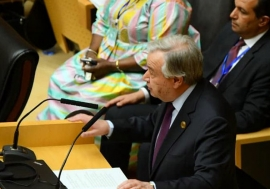 UN Secretary-General António Guterres, addressing the African Union Summit in Addis Ababa, Ethiopia, 9 February, 2020.