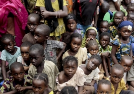Internally displaced children in Bangui, Central African Republic. Photo: UN Photo/Evan Schneider.