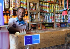 Retailers are embracing the system, because it brings them new customers who couldn't afford to buy food from shops before. Photo:WFP/Laila Ali