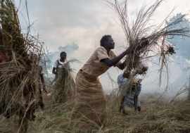 """""""Even though we are far from the nearest town right now, I have hope that our lives will be better,"""" says Esther Ojabajon, a South Sudanese refugee.  © UNHCR/Will Swanson"""