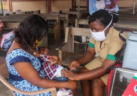 Ghana's community nurses deliver child health care amid COVID-19