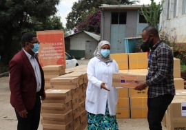 Handover of consumable medical equipment to St. Paul's Hospital