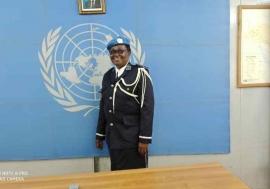 Lieutenant-Colonel Doamba Sawadogo from Burkina Faso, serving in DR Congo