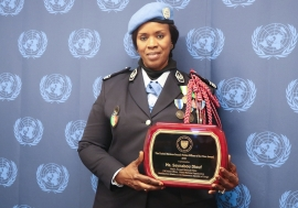 UN Female Police Officer of the Year, Major Seynabou Diouf of Senegal.