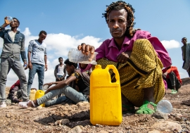 The lack of access to clean water, or money to buy it, is among the major risk factors for migrants transiting through Djibouti.