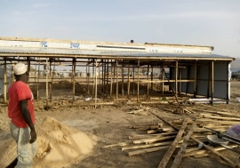 Shelter workers have begun the construction of a quarantine facility in Pulka where 56,014 IDPs live in camps and host communities.