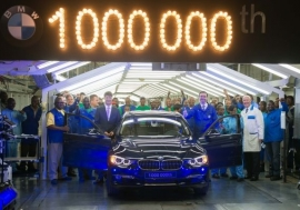 BMW South Africa announces the production of its one-millionth BMW 3 Series sedan at its manufacturing plant in Rosslyn, Pretoria in South Africa. Photo: BMW Group