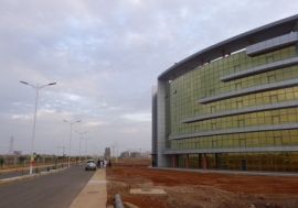 An administrative building at the new Diamniadio industrial park in Dakar, Senegal. Photo: Reuters/Nellie Peyton