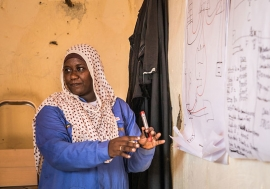 Ms. Brema trains women in her village to become electricians.