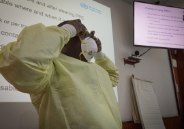 Drawing on Ebola readiness to tackle COVID-19