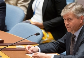 Jean-Pierre Lacroix, Under-Secretary-General for Peacekeeping Operations, briefs the Security Council on the situation in Mali