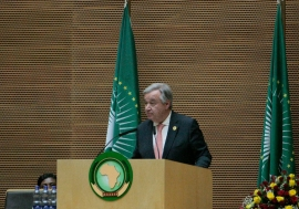 United Nations Secretary-General António Guterres addressing the Opening of the 30th Ordinary Session of the Assembly of the African Union, In Addis Ababa, Ethiopia. UN Photo/Antonio Fiorente