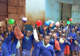 A global report has found that the most successful school feeding programs are community led and involve parents. Photo: Imperial College London Partnership for Child Development.