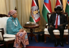 UN Deputy Secretary-General Amina Mohammed shared her concerns over sexual violence in South Sudan with President Salva Kiir.