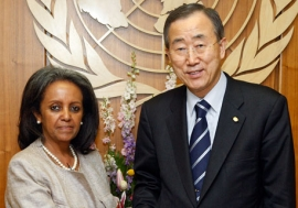 Ms. Sahle-Work Zewde and the Secretary-General Ban Ki-moon