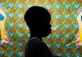 Thirteen-year-old boy at the Centre de Transit et d'Orientation, a UNICEF-supported reintegration centre for children associated with armed groups, in Kananga, Kasaï region, Democratic Republic of the Congo.