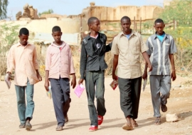 Young Somali men participate in a vocational training and education program in Burao, Somaliland. But as Africa's population grows, the number of people escaping conflict in countries like Somalia will continue to rise. Photo: UNDP Somalia