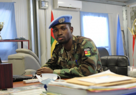 Kossi Gavon, 24, is a lieutenant from Togo serving in the UN Peacekeeping Mission in Mali.