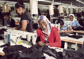 Workers at the Shints textile factory some 45 minutes from the Addis Ababa city center in Ethiopia.