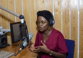 Merveille-Noella Mada-Yayoro, 29, is a journalist and a producer with Guira FM