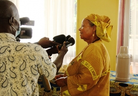 Bernadette Gomina is one of two women elected in the first round of legislative elections in the CAR