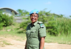 L'inspectrice en chef Doreen Malambo, servant dans la mission des Nations Unies au Sud Soudan