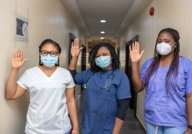 Female frontline healthcare workers in Nigeria