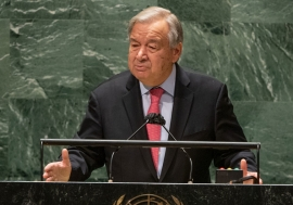 Secretary-General António Guterres addresses the opening of the general debate of the UN ...
