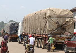 An increased number of trucks are crisscrossing roads around the continent are stranded at borders.