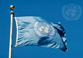 The Flag of the United Nations.