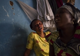 Relatives of a student killed in Burundi's political violence. Photo: Phil Moore/IRIN
