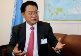 Li Yong, Director-General of the United Nations Industrial Development Organization (UNIDO). Photo: Africa Renewal/Eleni Mourdoukoutas