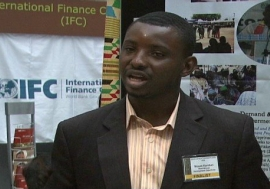 Moses Kanduri, Vice President of AYE, Association of Young Entrepreneurs in Ghana