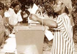 Elections have spread in Africa, but democracy remains weak.  Photo : ©UN / P. Sudhakaran